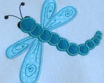 Dragonfly applique machine embroidery
