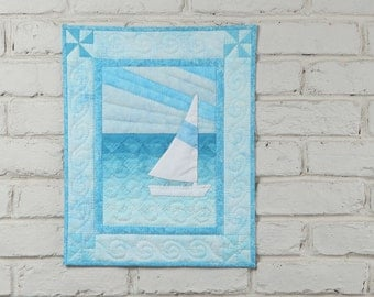 Sail Boat Wall Quilt Pattern