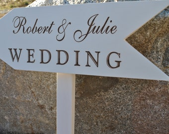 Wedding Arrow Customized With Bride & Grooms Names