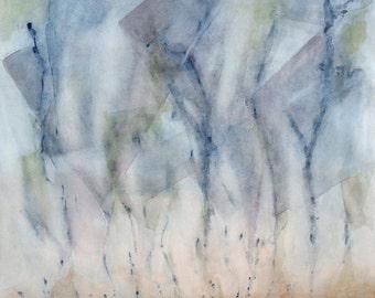 """Large original watercolor painting. 19""""x19.5"""""""