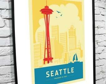 Seattle Skyline 11x17 Poster