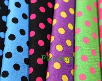 Yard - 7mm Polka Dot (5 Colors) 100% Cotton - Fikashop