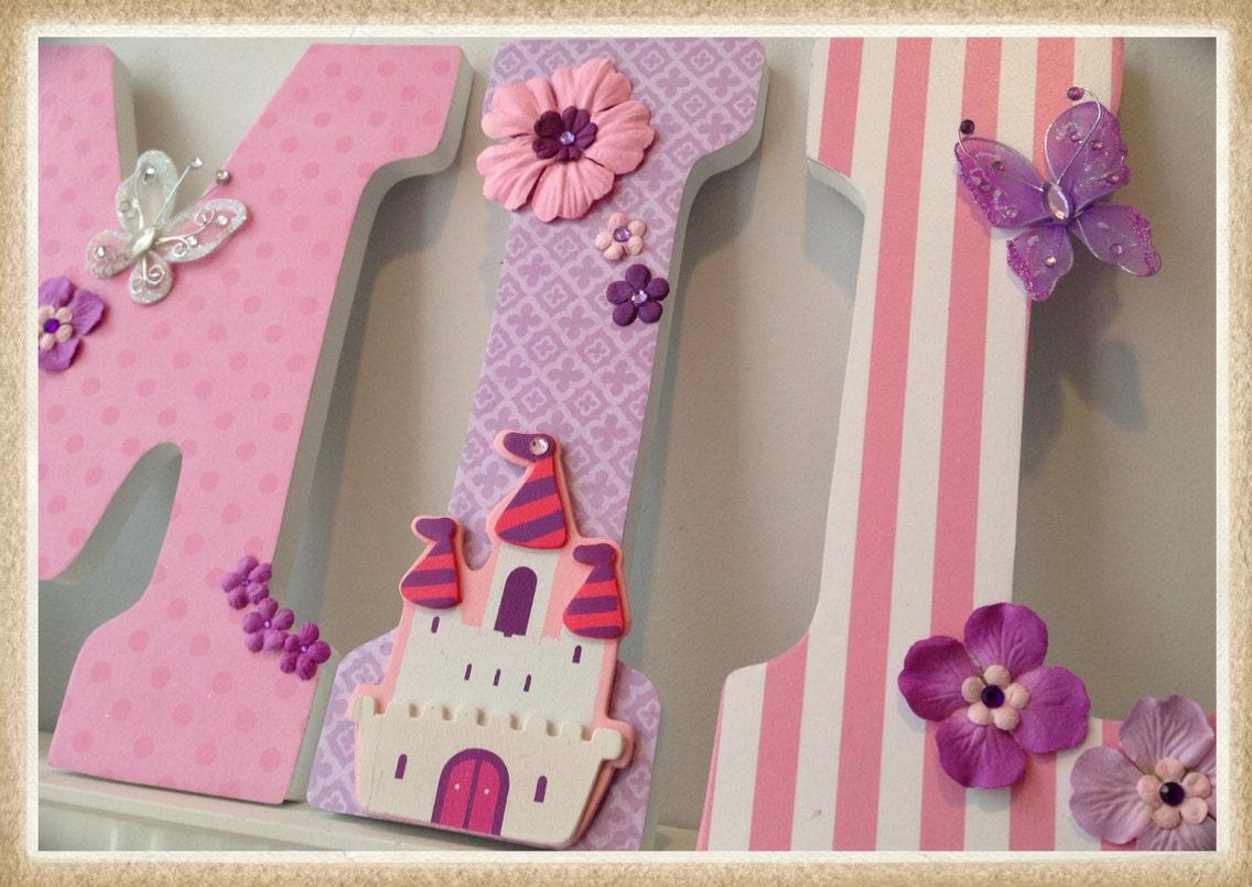 Princess Nursery. Butterfly Nursery Letters. Wall Letters