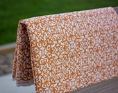 Solid Fabric Backdrop - Orange & White - Abstract Design - Photography Posing Backdrop