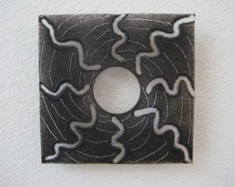 "Dark Energy - Fused Glass Wall Art 6"" x 6"""