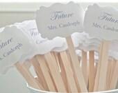 Wedding Drink Stirrers-Wedding Cocktail Bar-Stir Sticks-Paper Goods-Engagement Party-Signature Drinks-Future Mrs