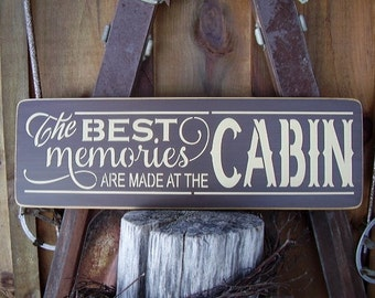 Wood Sign, The Best Memories Are Made At The Cabin, River, Beach, Lake, Lake House, Handmade, Word Art
