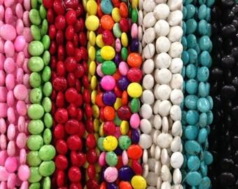 16mm coin howlite beads