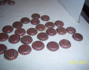 1950's Lot of 25  New Old stock Unused Plantation Punch Hyco Bottling Co Fall River, Mass cork lined  bottle caps crafts Decoration wedding