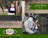 The Jay 5x7 Senior Graduation Announcement Template for Photoshop Instant Download