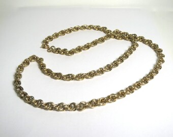 Vintage Gold Costume Chain Necklace 31 inches long