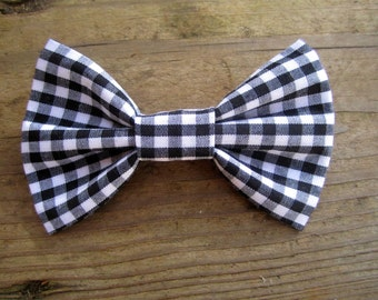 Black Gingham Baby Bow Tie...Toddler Bow Tie