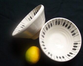 deep piano keys bowl