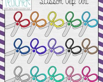 Back 2 School Supplies: Scissor Clip Art / Graphics