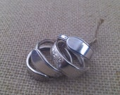 Silver Napkin Rings Holders Silverplate Silverware Rings Tablewear Repurposed Flatwear