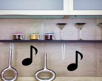 Music Note with Rectangles,  Chalkboard Labels,  Reusable, Removable