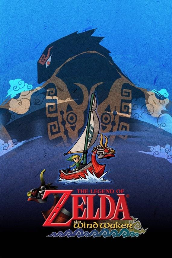Legend Of Zelda Wind Waker Poster Legend of Zelda The Wi...