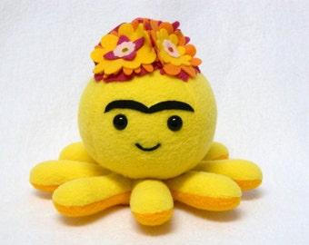 Frieda Kahlo Octopus plush toy flower headdress