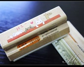 1 Piece Lace Stamp - Wooden Rubber Stamp - Diary Stamp - Korean Stamp - Style 1