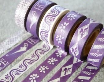 Washi Tape Set - Japanese Washi Tape - Masking Tape - Deco Tape - 6 Rolls - WTS2050