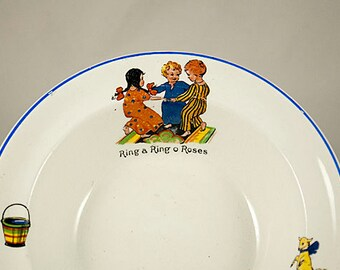 Vintage Childs Nursery Rhyme Porridge Bowl