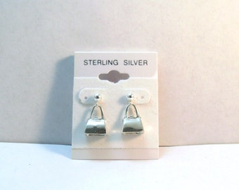 Sterling Silver Handbag/Purse Charms on Sterling Silver Ball Post Studs -0535