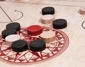 Carrom Handmade Wood Game Pieces set of 20