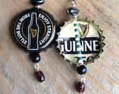Guinness Beer Bottle Cap Earrings