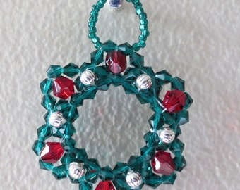 Crystal wreath ornament.