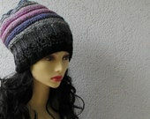 Hand Knit Hat - Colorful Women Hat - Slouchy Hat - Chunky Knit Hat - Women Beanie - Winter Accessories Chunky Knit - AlbadoFashion