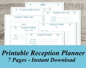 INSTANT DOWNLOAD Reception Planner PDF Wedding Planning - 7 Pages