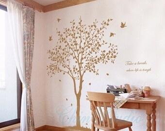 Tree Vinyl Wall Decals wall sticker kids wall decal nursery vinyl decals-tree with flying birds