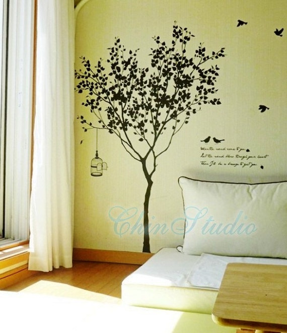 tree wall decals wall stickers living room wall by chinstudio