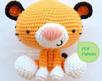 Amigurumi Crochet PDF Pattern - Roary the Tiger (Instant Download)