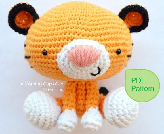 Amigurumi Crochet PDF Pattern Roary the Tiger Instant
