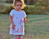 Toddler Girls Dress Peasant Dress Michael Miller Children at Play on Parade • Michael Miller dress