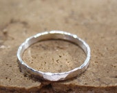 Wholesale Rings Sterling Silver Hammered Band Ring Blank/Silver Ring/Wholesale Ring Blank/Design Your Own Ring/Hammered Rings/2mm Band