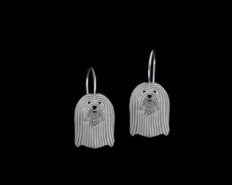 Lhasa Apso earrings - sterling silver