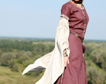 "Discounted Price! WINE RED Dress ""Archeress""; Medieval Dress; In Stock! Ready to Ship! Discounted Price! Fixed Sizes"