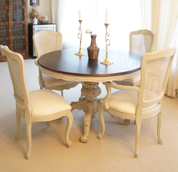 French Round Dining Table French Round Dining Table Country