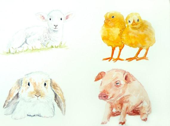 Baby animal painting - photo#6