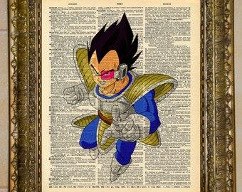 Dragon Ball Z Vegeta Dictionary Art