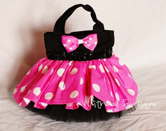 Pink and Black Minnie Mouse Tote Bag