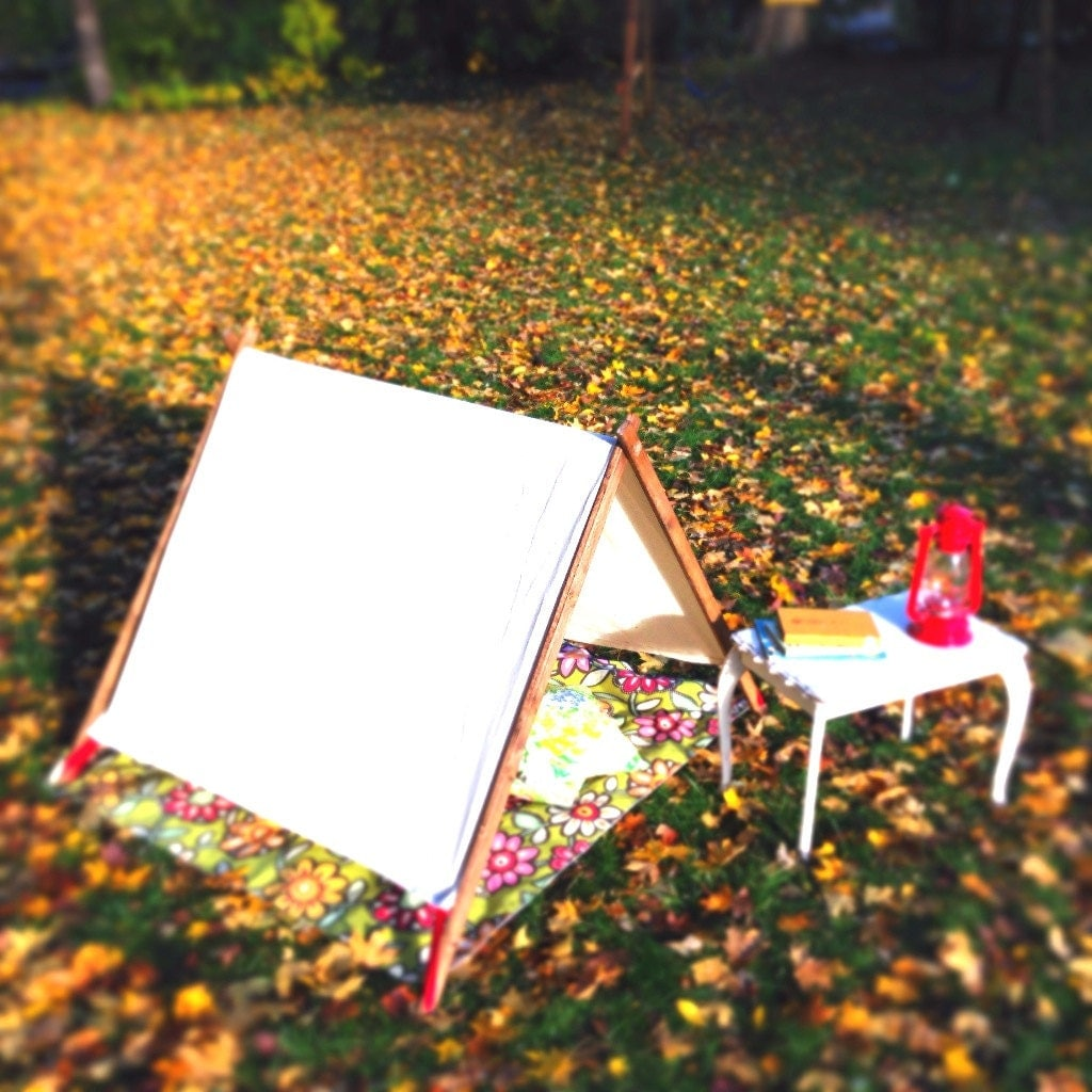 A frame canvas tent for little ones by thesunshineclub on etsy for How to build a canvas tent frame