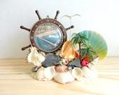 Vintage Shell Souvenir, Vintage Shell Art, Vintage Souvenir, Vintage Boat