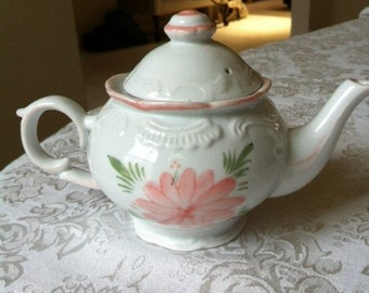 China Tea Pot With Pink Flowers