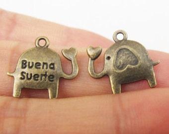 30pcs 14x16mm Antique Bronze Lovely Mini Elephants Charms Pendant Jewelry Supplies A1175-30