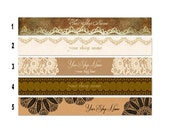 SHOP BANNERS Antique Lace 2 Etsy Shop Banners and 2 Etsy Shop Avatars