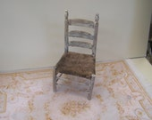 Rustique country chair, dollhouse miniature, scale 1:12