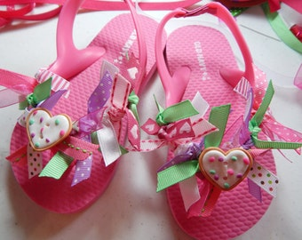 LIL GIRLS  flip flops---Toddler and girls size